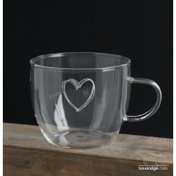 Tazza latte vetro borosilocato